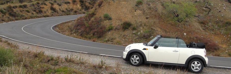 Mini in der Sierra Nevada