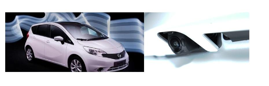 Nissan Note und Rückfahrkamera, Fotos: Nissan