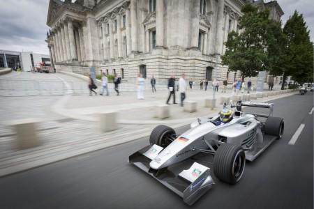 Promo-Runde der Formula E mit Lucas di Grassi in Berlin, Foto: Formula E