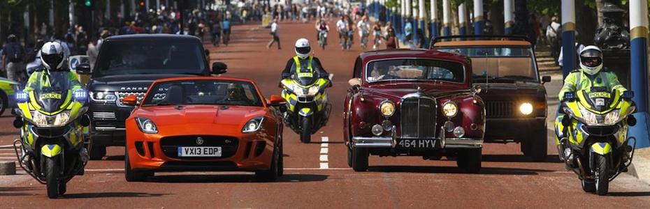 Alte und neue Jaguar und Land Rover Modelle, Foto: JLR