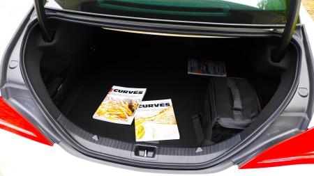Kofferraum des Mercedes CLA