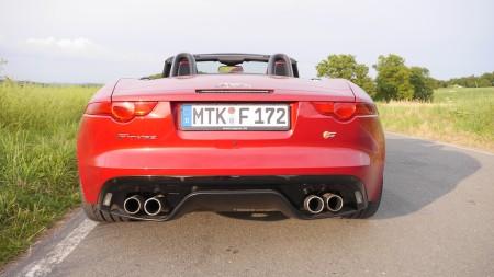 Jaguar F-TYPE V8S hinten, Foto: Autogefühl