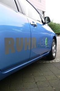 Übergabe von fünf Nissan LEAF an RUHRAUTOe, Foto: RUHRAUTOe