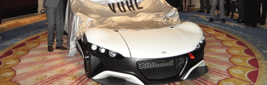 Das VUHL supercar bei der Enthüllung, Foto: VUHL