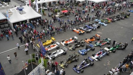 Parc fermé beim F1 Rennen beim Oldtimer Grand Prix, Foto: Autogefühl