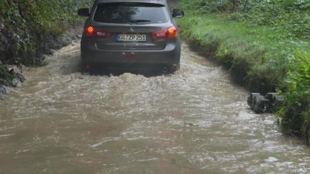 Mitsubishi ASX Wasserdurchfahrt, Foto: Autogefühl