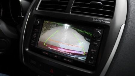 Mitsubishi ASX Rückfahrkamera bei Wasserdurchfahrt, Foto: Autogefühl