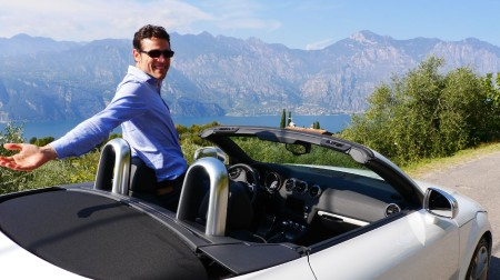 Thomas mit dem Audi TTS Roadster, Foto: Autogefühl