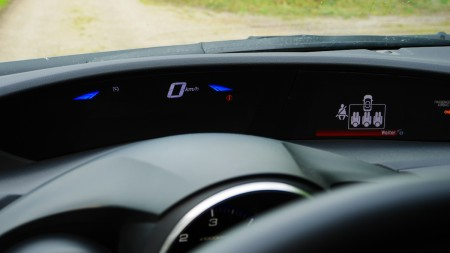 Honda Civic geteilte Anzeigetafel: oben km/h, Foto: Autogefühl