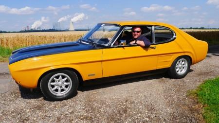 Holger mit dem Ford Capri RS 2600, Foto: Autogefühl
