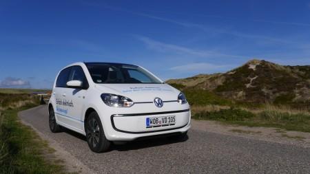 VW e-up! auf Sylt, Foto: Autogefühl