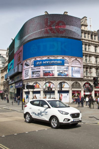 Hyundai ix35 Fuel Cell Electric Vehicle (FCEV) in London, Foto: Hyundai