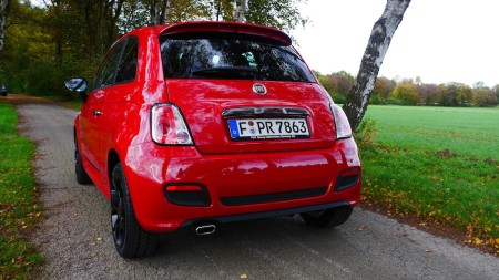 Fiat 500 S Heck, Foto: Autogefühl