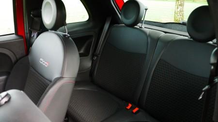 Fiat 500 S Rückbank, Foto: Autogefühl