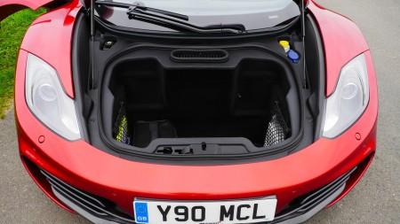 McLaren 12C Spider Kofferraum vorne, Foto: Autogefühl