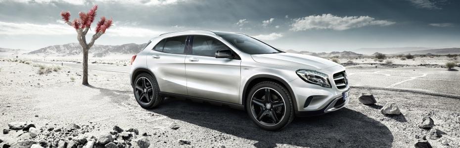 Mercedes-Benz GLA Edition 1 2013, Zirrus weiß, Foto: Mercedes