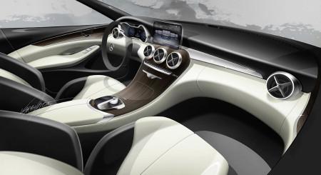 So sah es im Konzept aus: Mercedes C-Klasse (W205), Foto: Mercedes