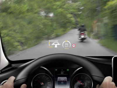 Neue Mercedes-C-Klasse Head-up-display, Foto: Mercedes