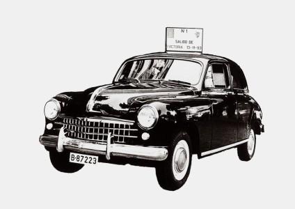 Foto des ersten SEAT 1400, November 1953, Foto: Seat