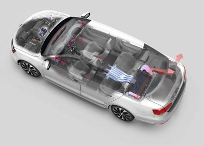 Be- und Entlüftung des Batteriepakets Foto: Volkswagen