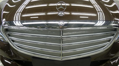 Die neue Mercedes C-Klasse, Kühlergrill mit Stern, Foto: Autogefühl