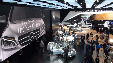 Mercedes Messe-Stand in Detroit, Foto: Autogefühl