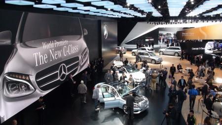Mercedes Messe-Stand in Detroit, Foto: Autogefühl