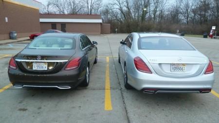 Mercedes C-Klasse vs S-Klasse (rechts), Foto: Autogefühl