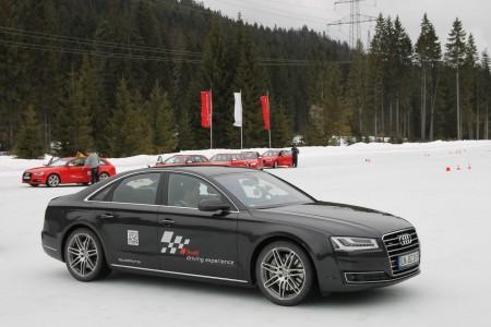 Audi A8 bei der Audi Driving Experience, Foto: Audi
