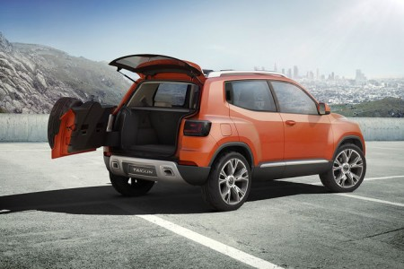 VW Taigun - ebenfalls neu: die zweigeteilte Heckklappe - Foto: Volkswagen