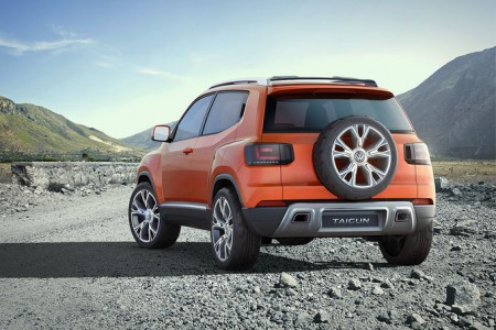 VW Taigun - nun mit am Heck angeschnalltem Reserverad - Foto: Volkswagen