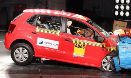 VW Polo: Erst mit zwei Airbags gab es ein 4-Sterne-Resultat -  Foto: Global NCAP