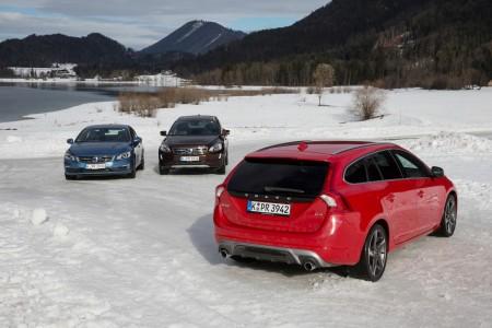 Auszug aus der Volvo-Modellpalette: Volvo S60, XC60, V60 (von links), Foto: Volvo