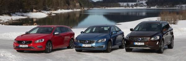 Volvo V60, S60 und XC60 (von links), Foto: Volvo