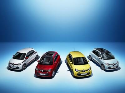 Neuer Renault Twingo in den vier Launch-Farben - Foto: Renault