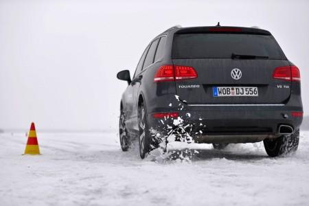 Mit dem VW Touareg die Grenzen ausloten. Foto: Michelin