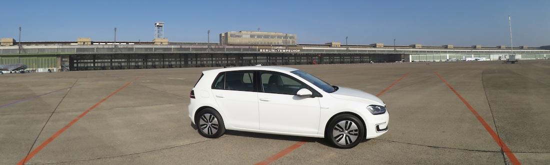 Der neue VW e-Golf in Berlin-Tempelhof, Foto: Autogefühl