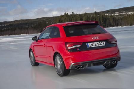 Audi S1 in Misanorot (Perleffekt Lack), Foto: Audi