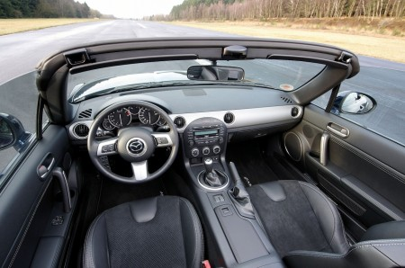 Mazda MX-5 Innenraum-Variante mit Stoff/Leder-Mix, Foto: Mazda; Hildebrandt/Lorenz