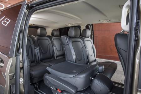 Mercedes V-Klasse Rücksitze, Variante: 2x Dreiersitzreihen, Foto: Mercedes