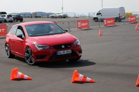 Fahrdynamik-Übungen mit dem Seat Leon Cupra 280, Foto: Autogefühl