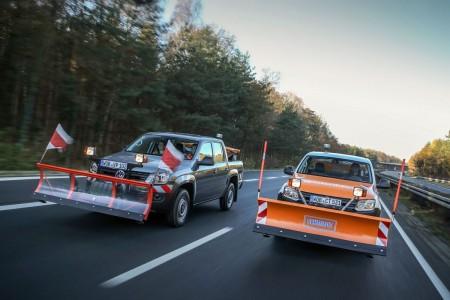Vielseitige Spezial-Anbauten: Volkswagen Amarok als Winterdienstfahrzeug, Foto: VW