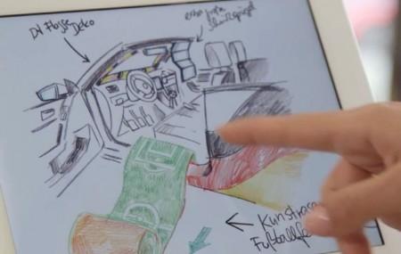 Skizzen für ein besonderes Fan-Auto, Foto: VW