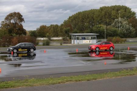Fahrdemonstration Bremstest WR neue Mischung gegen alte Mischung