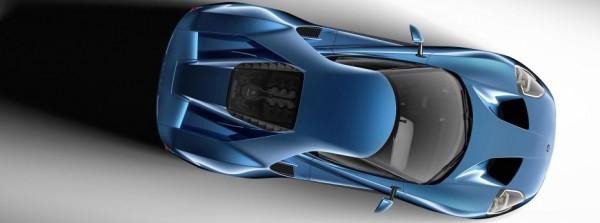 Die Ansicht von oben zeigt, wie deutlich der neue GT von seinen Vorgängern abweicht - Foto: Ford