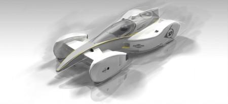 Future Race Car, von Sergio Rinland im Auftrag von Dunlop gezeichnet - Foto: Goodyear Dunlop