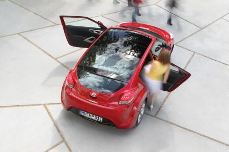 Die zweite Tür auf der Beifahrerseite ist mehr als eine Spielerei, sondern im Alltag ein bald sehr geschätztes  Feature - Foto: Hyundai