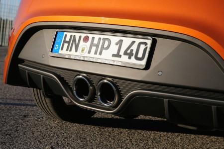 Doppelrohr-Auspuff verspricht, aber hält wenig: Der Sound ist mau - Foto: Hyundai