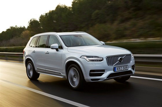 The new Volvo XC90 T8 Twin Engine petrol plug-in hybrid driven in Tarragona, Spain