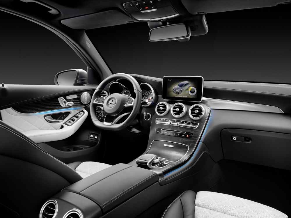 Mercedes-Benz GLC 350e 4MATIC, EDITION 1, Designo Leder Nappa Platinweiß Interieur Mercedes-Benz GLC 350 e 4MATIC, EDITION 1, Designo, Platinum White Interior